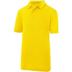 textil Børn Polo-t-shirts m. korte ærmer Just Cool  Sun Yellow