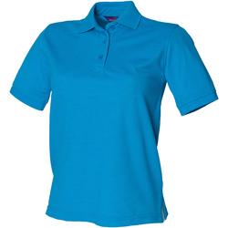 textil Dame Polo-t-shirts m. korte ærmer Henbury HB401 Sapphire Blue