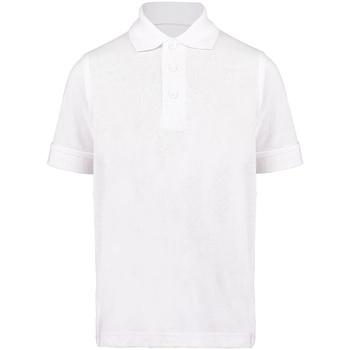 textil Dreng Polo-t-shirts m. korte ærmer Kustom Kit KK406 White