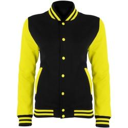 textil Dame Jakker Awdis JH044 Jet Black/Electric Yellow