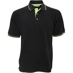 textil Herre Polo-t-shirts m. korte ærmer Kustom Kit KK606 Black/Lime