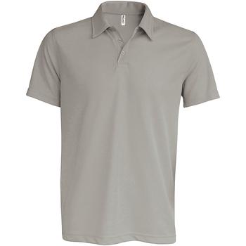 textil Herre Polo-t-shirts m. korte ærmer Kariban Proact PA482 Fine Grey