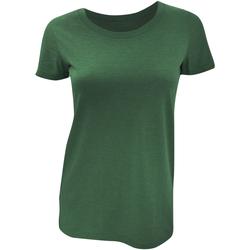 textil Dame T-shirts m. korte ærmer Bella + Canvas BE8413 Emerald Triblend
