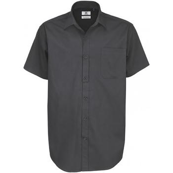 textil Herre Skjorter m. korte ærmer B And C Sharp Dark Grey