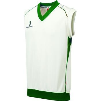 textil Dreng Toppe / T-shirts uden ærmer Surridge Curve White/ Green Trim