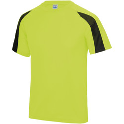 textil Herre T-shirts m. korte ærmer Just Cool JC003 Electric Yellow/Jet Black