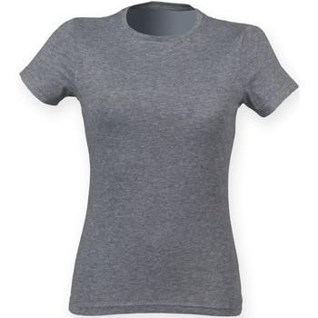 textil Dame T-shirts m. korte ærmer Skinni Fit SK161 Grey Triblend