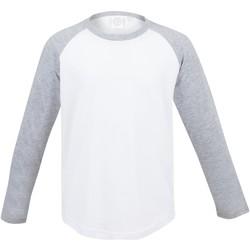 textil Børn Langærmede T-shirts Skinni Fit SM271 White / Heather Grey