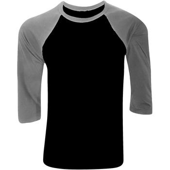 textil Herre Langærmede T-shirts Bella + Canvas CA3200 Black/ Deep Heather Grey