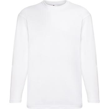 textil Herre Langærmede T-shirts Universal Textiles 61038 Snow