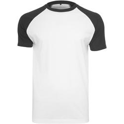 textil Herre T-shirts m. korte ærmer Build Your Brand BY007 White/Black
