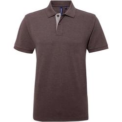 textil Herre Polo-t-shirts m. korte ærmer Asquith & Fox AQ012 Charcoal/ Heather Grey