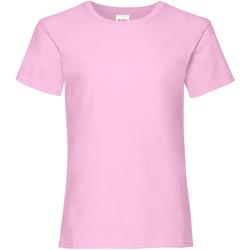 textil Pige T-shirts m. korte ærmer Fruit Of The Loom Valueweight Light Pink