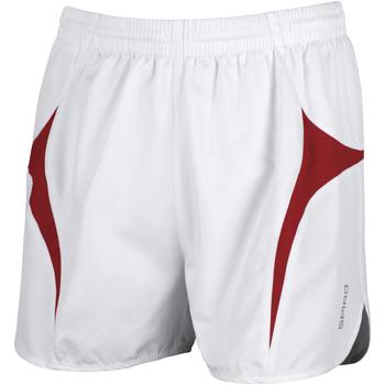 textil Herre Shorts Spiro S183X White/Red