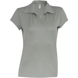 textil Dame Polo-t-shirts m. korte ærmer Kariban Proact PA483 Fine Grey