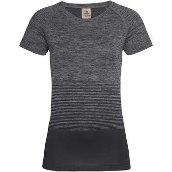 textil Dame T-shirts m. korte ærmer Stedman  Dark Grey Transition