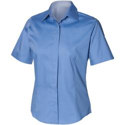 textil Herre Skjorter m. korte ærmer Henbury HB556 Corporate Blue