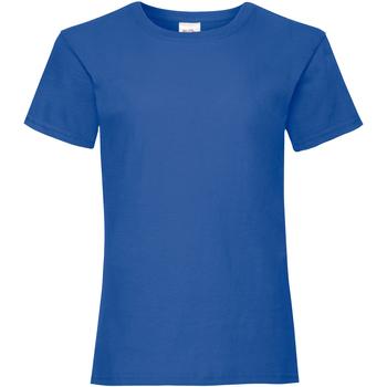 textil Pige T-shirts m. korte ærmer Fruit Of The Loom 61005 Royal