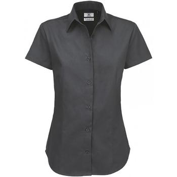 textil Dame Skjorter / Skjortebluser B And C SWT84 Dark Grey
