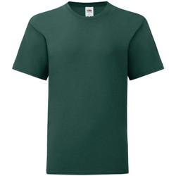 textil Dreng T-shirts m. korte ærmer Fruit Of The Loom 61023 Forest Green