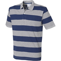 textil Herre Polo-t-shirts m. korte ærmer Front Row FR210 Heather Grey/Navy