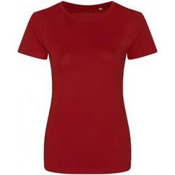 textil Dame T-shirts m. korte ærmer Ecologie EA01F Fire Red