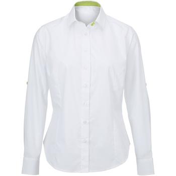 textil Dame Skjorter / Skjortebluser Alexandra AX060 White/ Lime