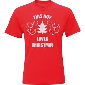 textil Herre T-shirts m. korte ærmer Christmas Shop CJ200 Red