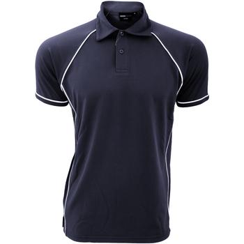 textil Herre Polo-t-shirts m. korte ærmer Finden & Hales Piped Navy/White