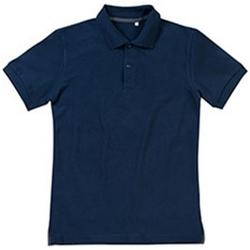 textil Herre Polo-t-shirts m. korte ærmer Stedman Stars Henry Blue