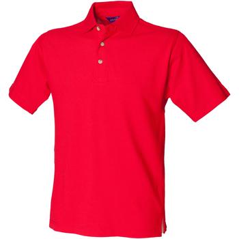 textil Herre Polo-t-shirts m. korte ærmer Henbury HB100 Classic Red