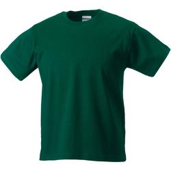 textil Børn T-shirts m. korte ærmer Jerzees Schoolgear ZT180B Bottle Green