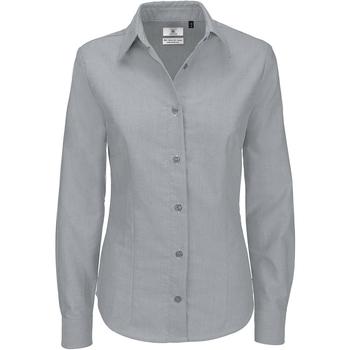 textil Dame Skjorter / Skjortebluser B And C SWO03 Silver Moon