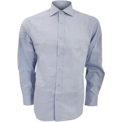 textil Herre Skjorter m. lange ærmer Kustom Kit KK118 Light Blue