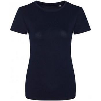 textil Dame T-shirts m. korte ærmer Ecologie EA01F Navy