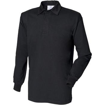 textil Herre Polo-t-shirts m. lange ærmer Front Row FR100 Black/Black