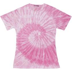 textil Dame T-shirts m. korte ærmer Colortone TD20M Spider Pink