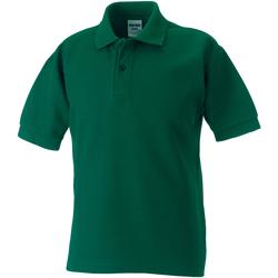 textil Dreng Polo-t-shirts m. korte ærmer Jerzees Schoolgear 65/35 Bottle Green