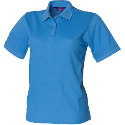 textil Dame Polo-t-shirts m. korte ærmer Henbury HB401 Mid Blue