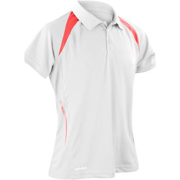 textil Herre Polo-t-shirts m. korte ærmer Spiro S177M White/Red