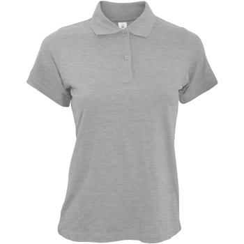 textil Dame Polo-t-shirts m. korte ærmer B And C PW455 Heather Grey