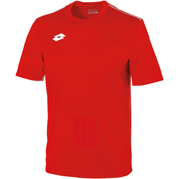 textil Børn T-shirts m. korte ærmer Lotto LT26B Flame/White