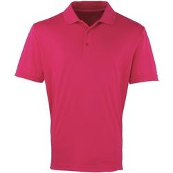 textil Herre Polo-t-shirts m. korte ærmer Premier PR615 Hot Pink