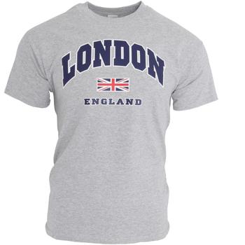 textil Herre T-shirts m. korte ærmer England  Sports Grey