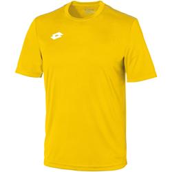 textil Børn T-shirts m. korte ærmer Lotto LT26B Yellow/White
