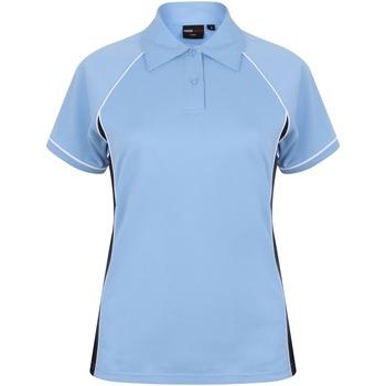 textil Dame Polo-t-shirts m. korte ærmer Finden & Hales LV371 Sky/Navy/White