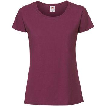 textil Dame T-shirts m. korte ærmer Fruit Of The Loom SS424 Burgundy