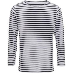 textil Herre Langærmede T-shirts Asquith & Fox AQ070 White/Navy