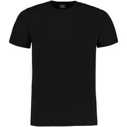 textil Herre T-shirts m. korte ærmer Kustom Kit KK504 Black Melange