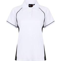 textil Dame Polo-t-shirts m. korte ærmer Finden & Hales LV371 White/Black/Black